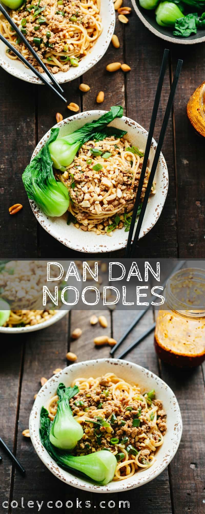 Dan Dan Noodles are a classic Sichuan street food made with ground pork and spicy chili oil. These noodles have the perfect balance of flavors and textures! #dandan #noodles #Chinese #sichuan #easy #recipe #spicy #pork   coleycooks.com