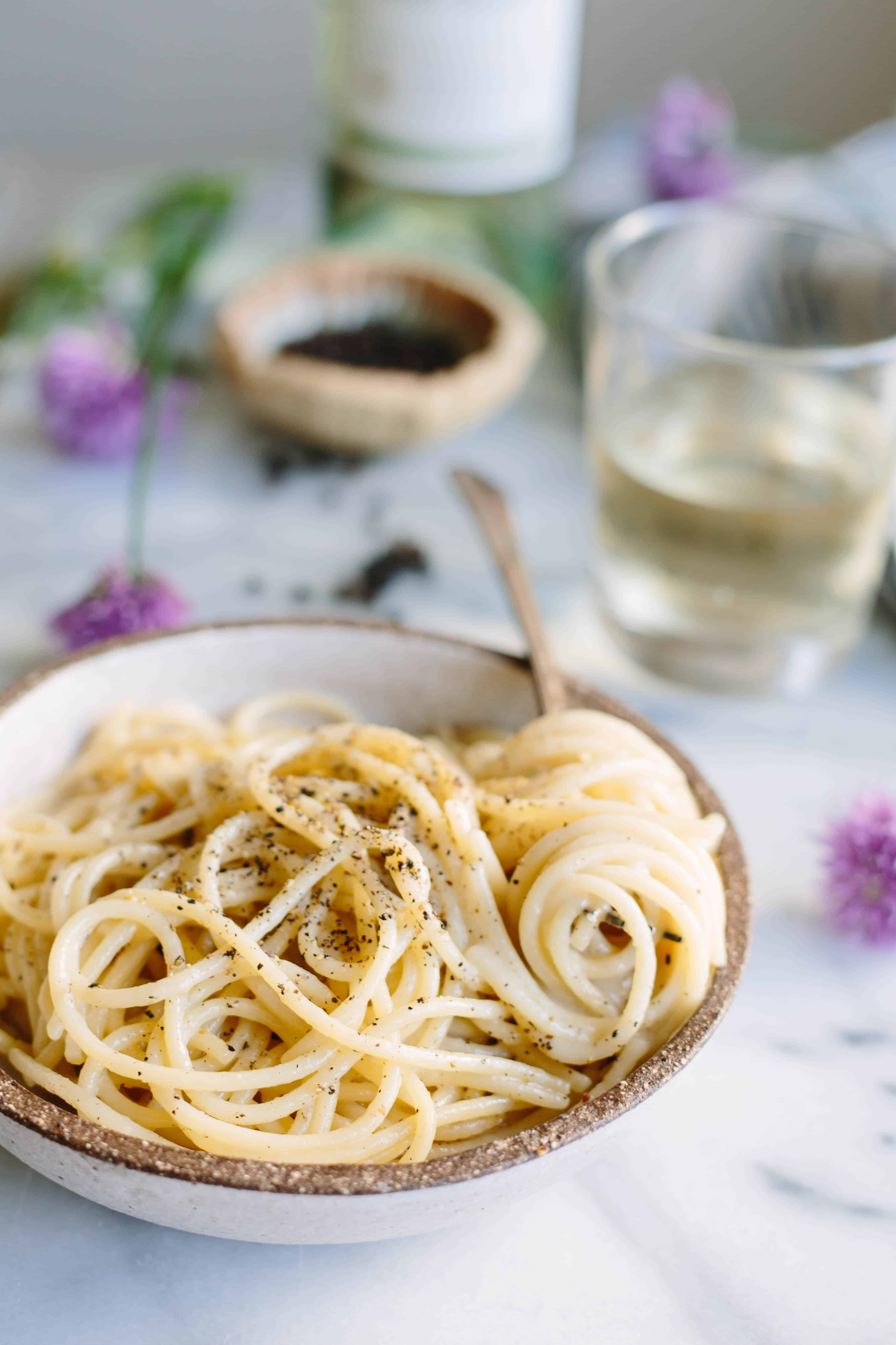 This simple classic Italian pasta recipe relies on good quality ingredients and proper technique to shine. Rich and creamy pasta perfection!