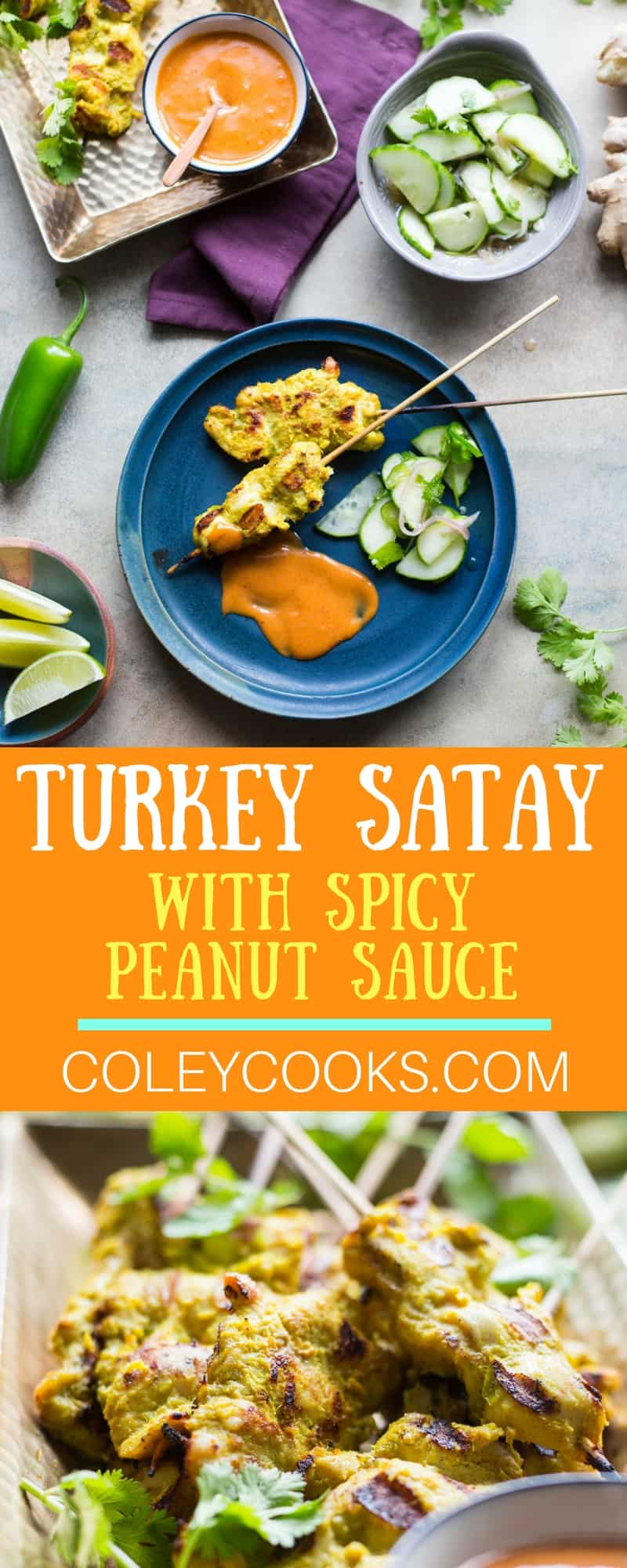 Turkey Satay with Spicy Peanut Sauce. This satay recipe is low carb and full of authentic flavor.