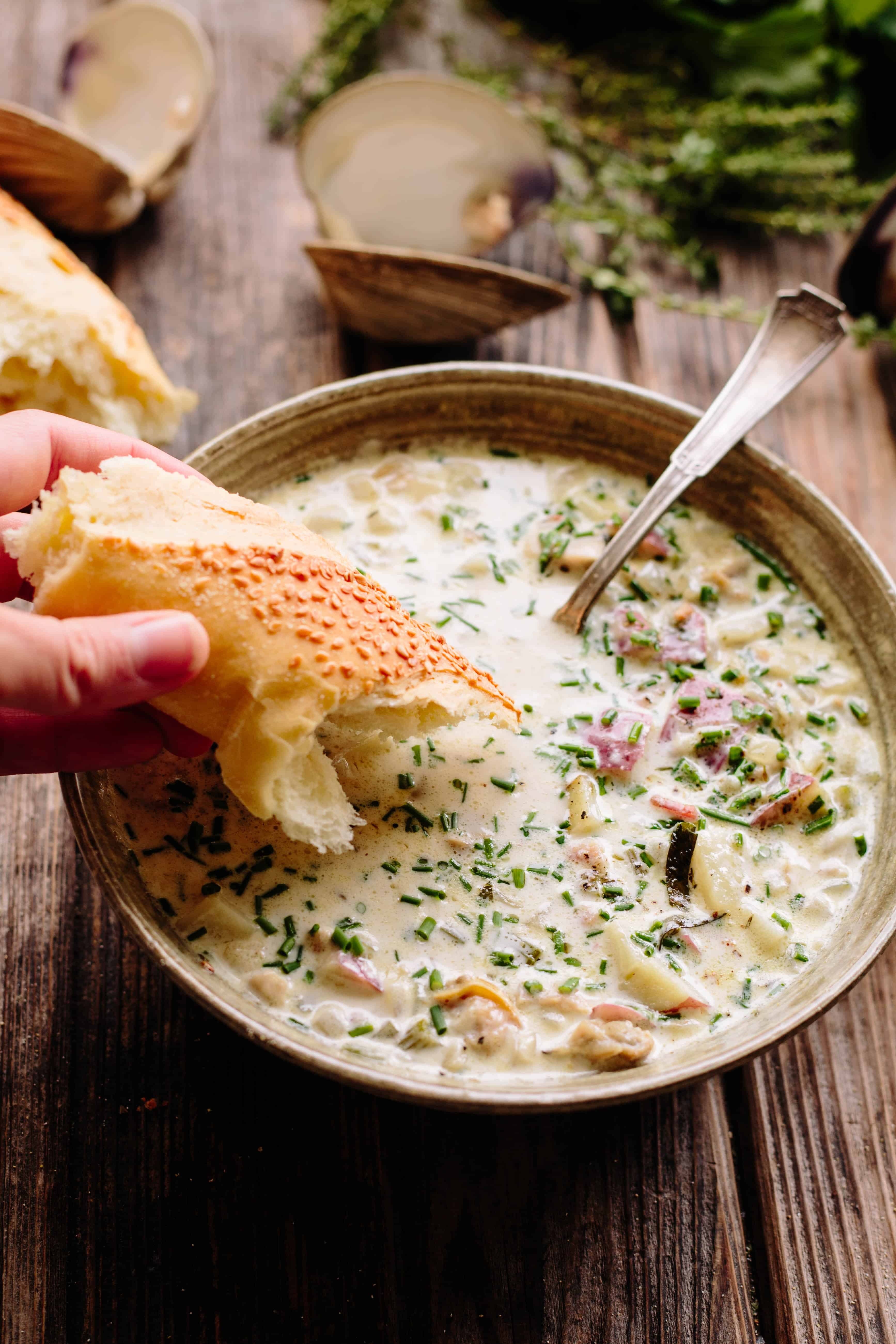 New England Clam Chowder   Simple, Classic, Delicious   ColeyCooks.com
