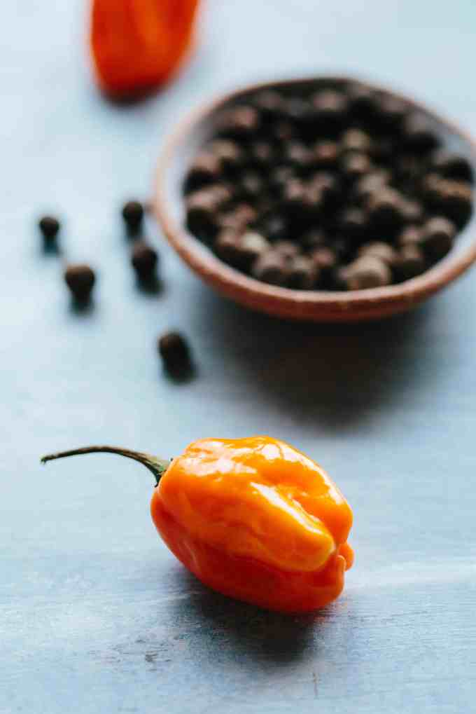 scotch bonnet and all spice (pimento)