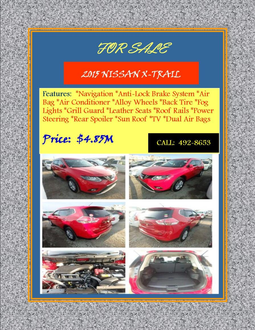 Nissan X-trail For Sale Flyer (1)