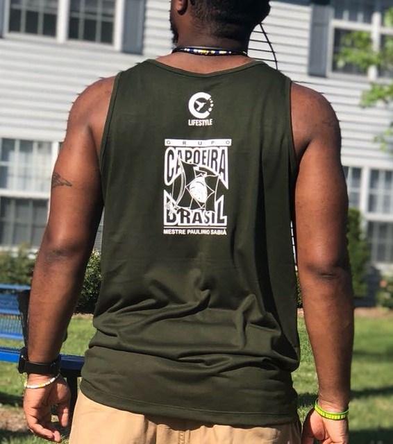 Back of Green Colibri 'Chicago' Logo Tank top