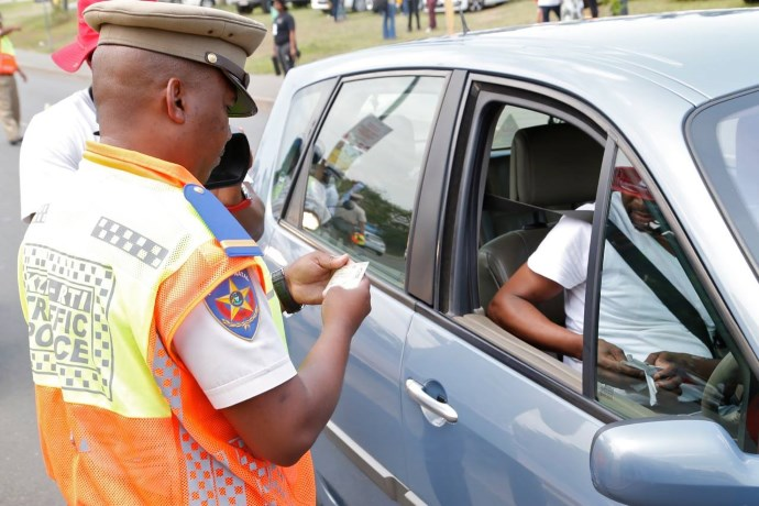 traffic cop roadblock