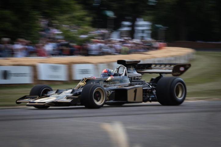 1885668_A Lotus Type 72 raced by Emerson Fittipaldi tackles Goodwood's hill (Photo by Goodwood)
