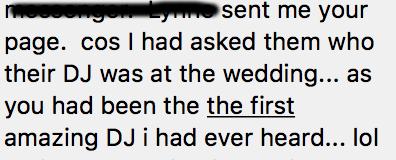 Wedding DJ Quote Gledoch House