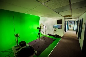 office green screen