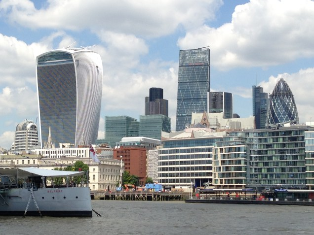 The changing skyline of the City of London