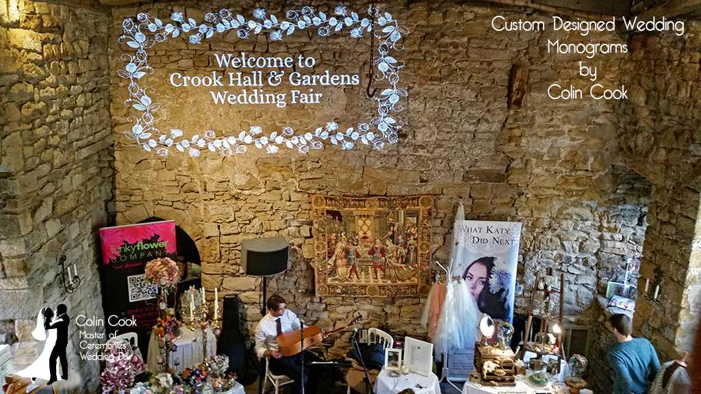 Crook Hall Wedding DJ, Master of Ceremonies and Wedding Monogram, Durham