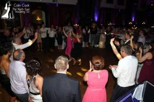 Guests having great fun at a Durham Castle Wedding Disco