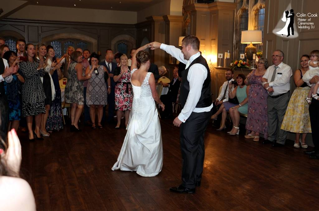 Ellingham Hall Wedding Disco First Dance. Ensuring the First Dance is announced properly and your guests engaged is part of a Wedding DJ's job