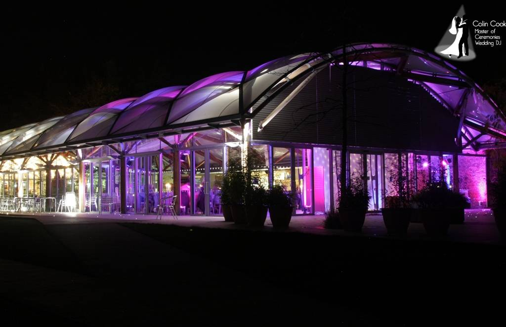 Alnwick Garden Pavilion - Wedding Moodlighting gives a real WOW factor if done properly