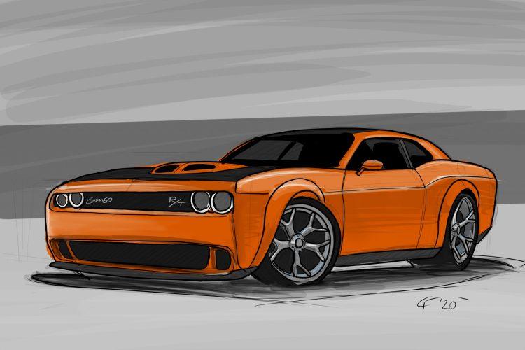 Dodge Challenger 50th Anniversary Edition sketch
