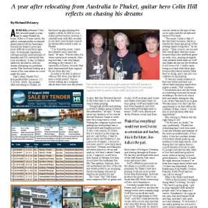 colin hill band phuket post article