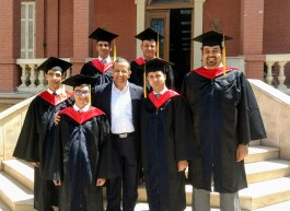 MDiv Students with Dr Atef, President of the Seminary