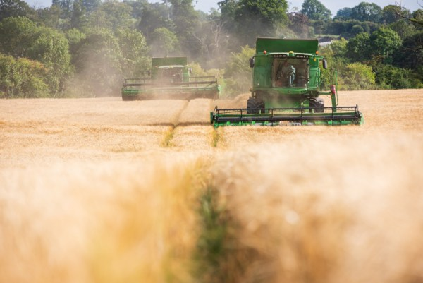 John Deere combine harvester