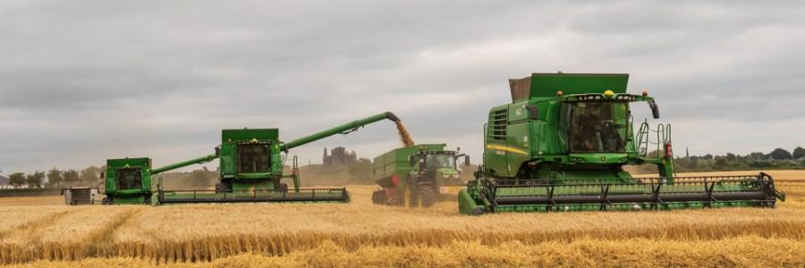 John Deere combine harvester's and loader