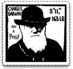 Charles Darwin Has A Posse sticker