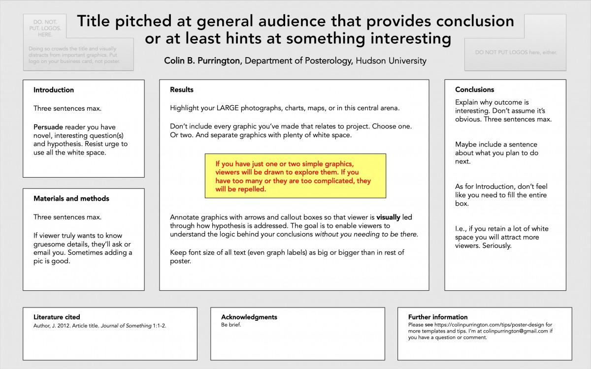 templates for conference posters colin purrington