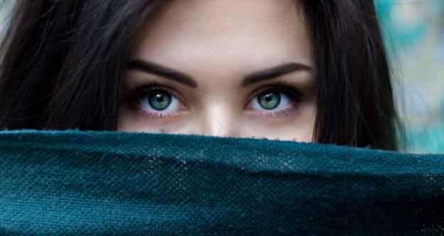 Dry skin below the eyebrows