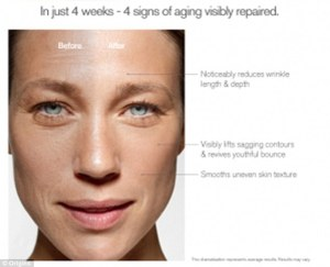 before and after cosmetic adverts