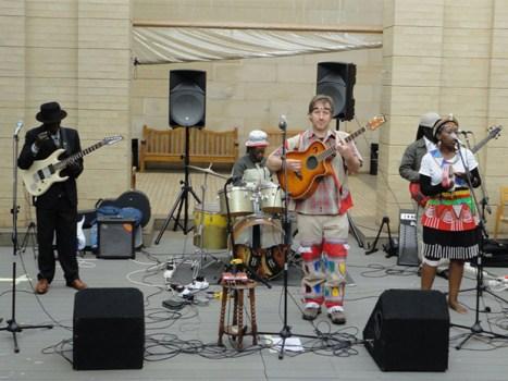 Band at Art Gallery