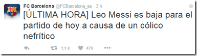 lionel messi_colique nephretique