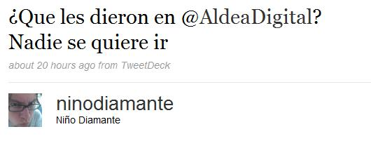 Tweets primer Aldea Digital