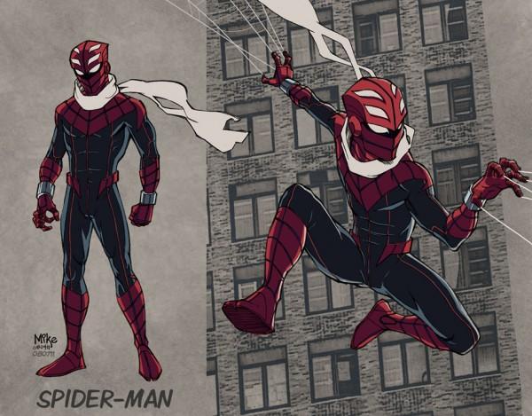 Spiderman traje nuevo por Mike Dimayuga