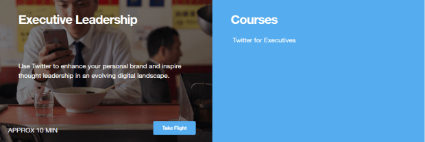 executive twitter course