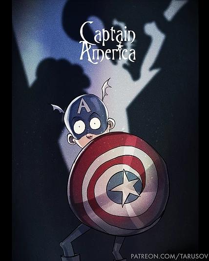 Captain America a la Tim Burton_result