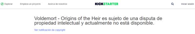 kickstarter voldemort