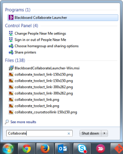 Collaboate Launcher in Start Menu