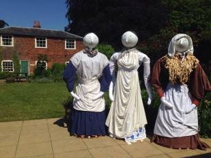 Artist Fred White worked with visitors to create life sized workhouse dolls inspired by our collections.