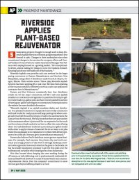 Asphalt Paving Magazine PreservationPro Supplement May2020 Riverside Chooses Delta-Mist