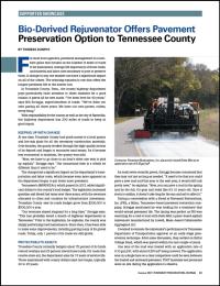 Delta Mist Bio-Derived Rejuvenator Offers Pavement Preservation Option to Tennessee County
