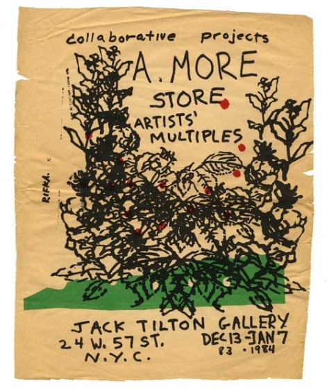 Designed by Judy Rifka, A. More Store at Jack Tilton, 1983