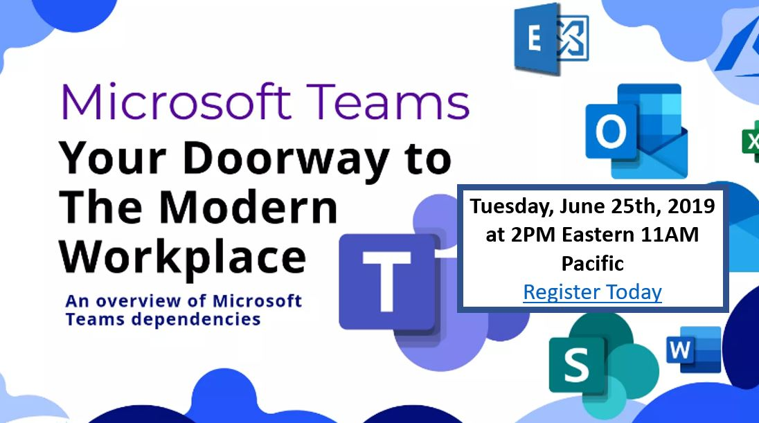 Microsoft Teams Doorway to the Microsoft Modern Workplace Infographic