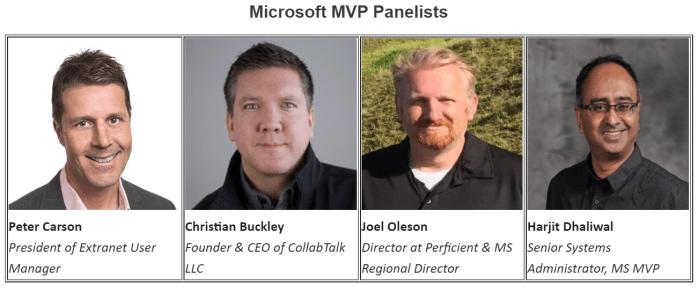 MVP Panelists