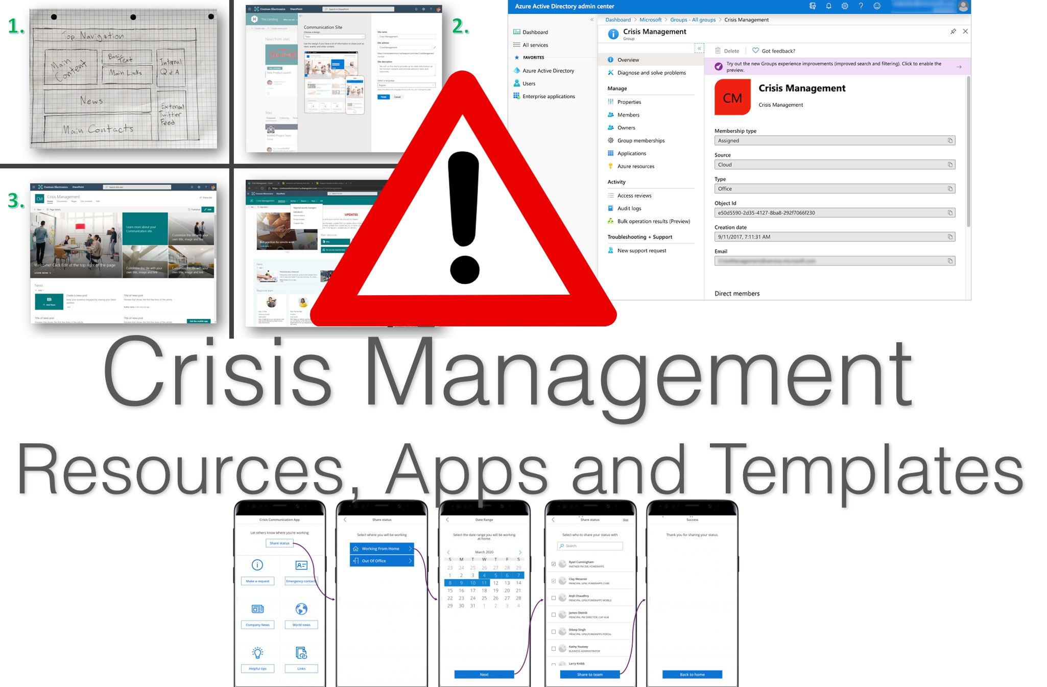 Microsoft Crisis Management Response Templates and Remote Work Resources for Coronavirus #Covid19