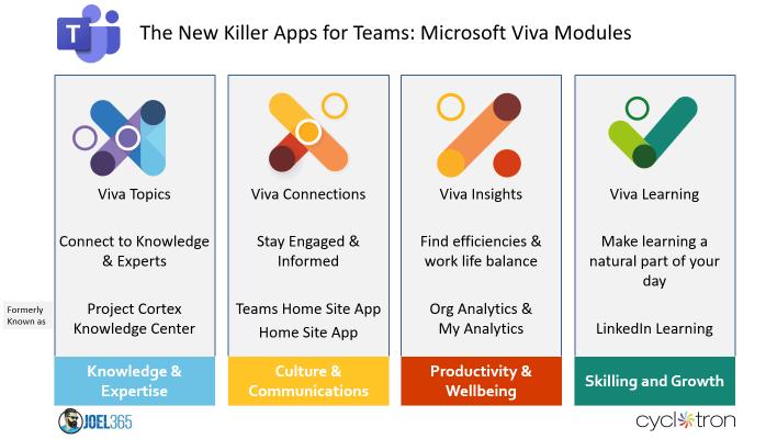 Microsoft Viva Infographic