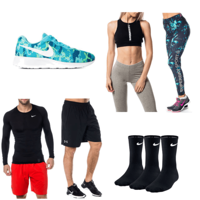 watch 21d06 6abe4 Nike Tanjun Print Blue White Ghost   Cool Comp LS Black   UA Hiit Woven  Short Black   Gym Logo Legging Electric Storm   Superdry Gym Scuba Crop  Black ...