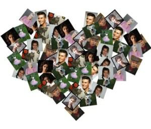 Collages en forma de Corazón.