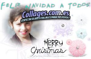 Tarjetas Collage de Navidad.