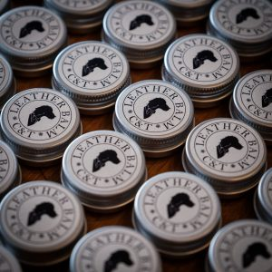 Sample tins of C&T Leather Balm