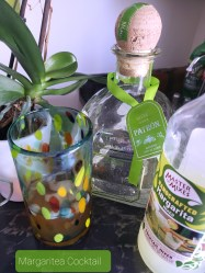 Trader Joe's Black Mango Tea combines with Patron Silver Tequila and Margarita Mix to create the Margaritea Cocktail. Happy summertime in a glass!