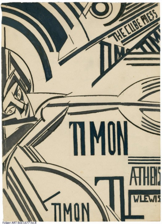Wyndham Lewis: back cover of his Timon of Athens portfolio (courtesy Folger Library)