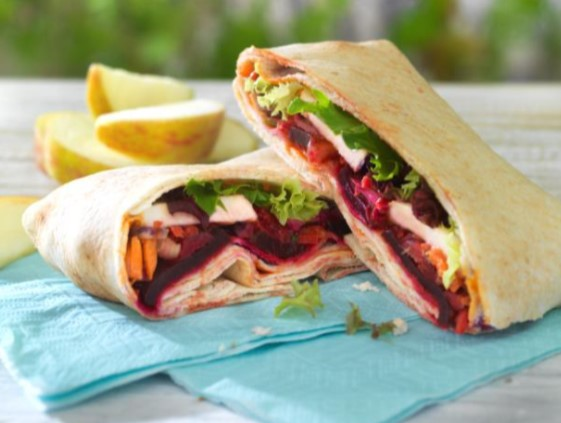 Co-op Haloumi and Beetroot wrap