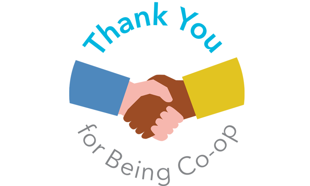 Thank you for Being Co-op logo