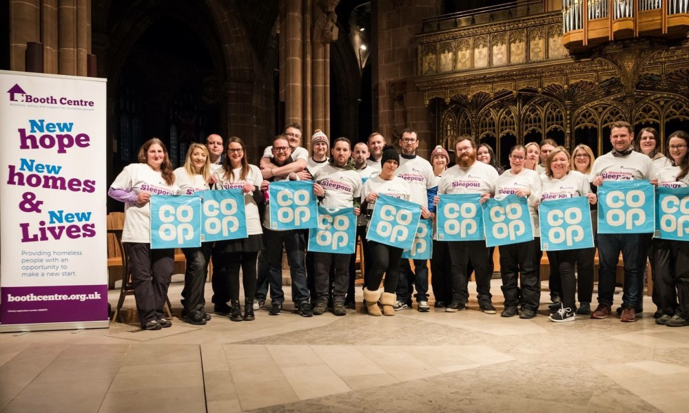 Colleagues on the Manchester sleepout